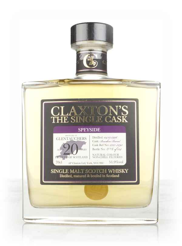 Glentauchers 20 Year Old 1996 (cask 1727-7293) - Claxton's