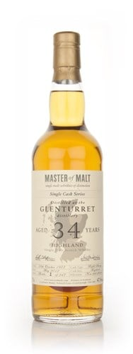 Glenturret 34 Year Old 1977 - Single Cask (Master of Malt)