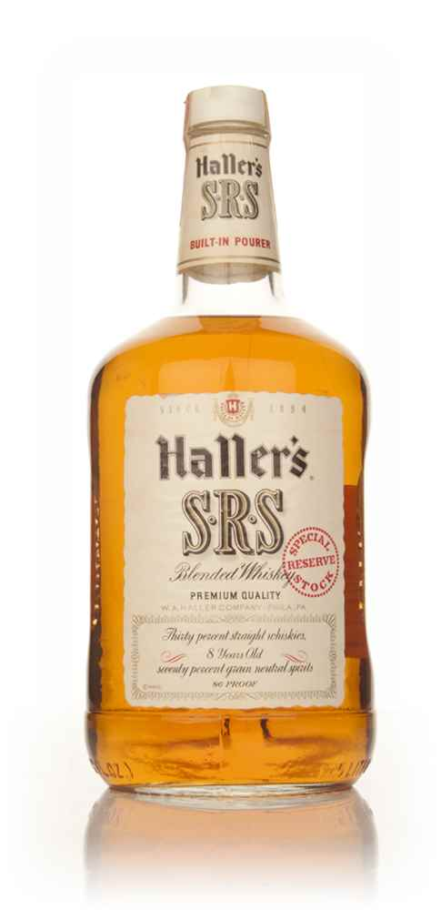 Haller's SRS Blended Whiskey - 1970s
