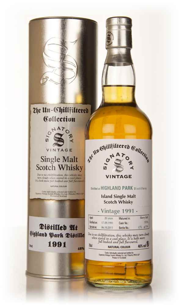 Highland Park 20 Year Old 1991 Cask 15116 - Un-Chillfiltered (Signatory)