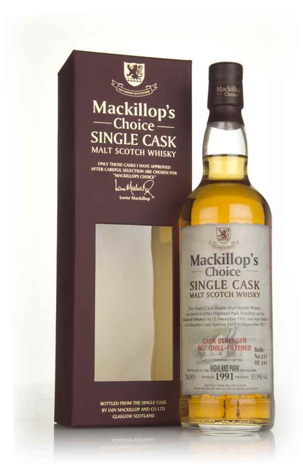 Highland Park 25 Year Old 1991 (cask 8103) - Mackillop's Choice