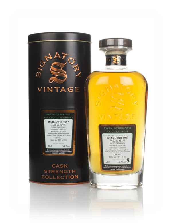Inchgower 22 Year Old 1997 (cask 2) - Cask Strength Collection (Signatory)