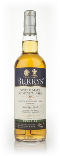 Inchgower 29 Year Old 1982 (Berry Bros. & Rudd)