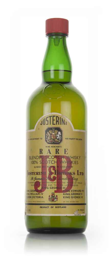 J & B Rare (large bottle) - 1960s