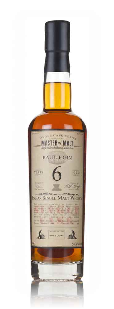 Paul John 6 Year Old 2009 (cask 522) - Single Cask (Master of Malt)