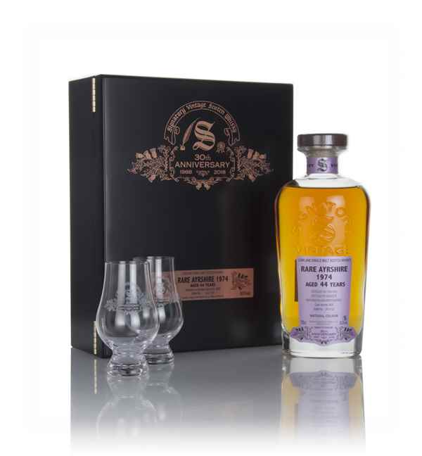 Rare Ayrshire 44 Year Old 1974 (cask 2606) - 30th Anniversary Gift Box (Signatory)
