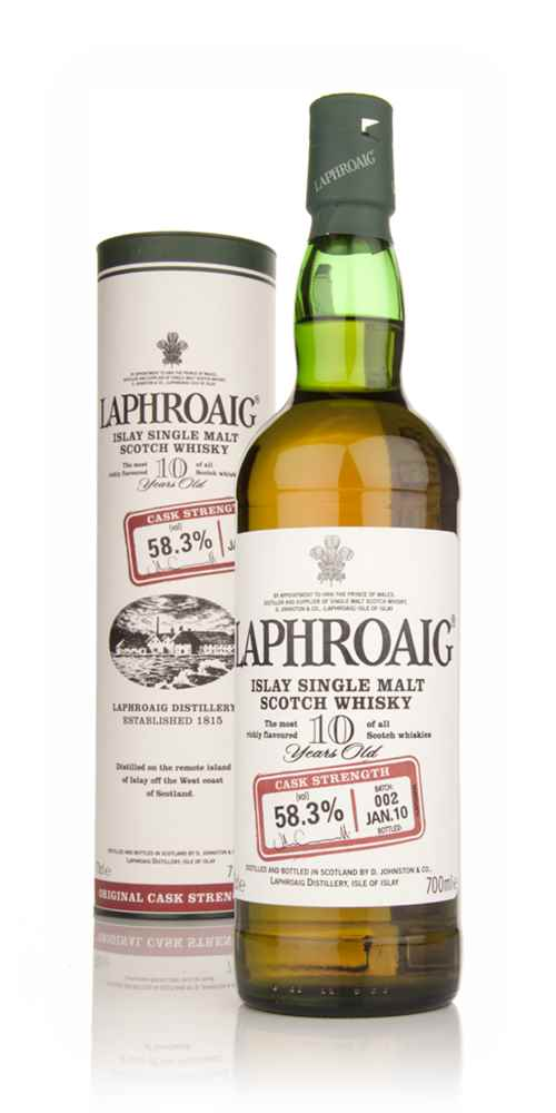 Laphroaig 10 Year Old Cask Strength - Batch 002 Jan 10