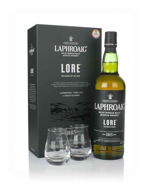 Laphroaig Lore Gift Pack with 2x Glasses
