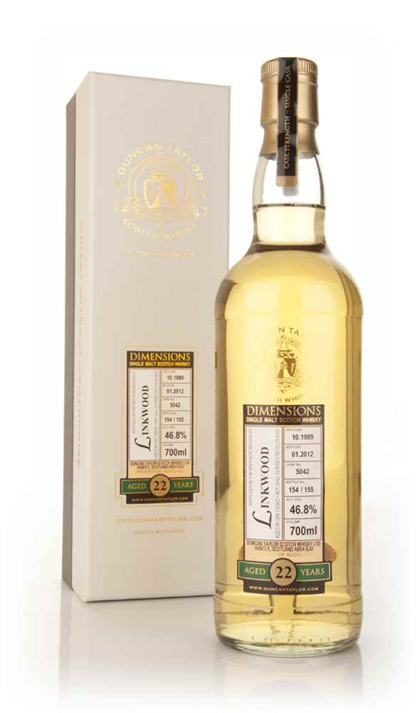Linkwood 22 Year Old 1989 Cask 5042 - Dimensions (Duncan Taylor)
