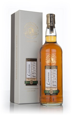 Linkwood 22 Year Old 1990 (cask 8326) - Dimensions (Duncan Taylor)