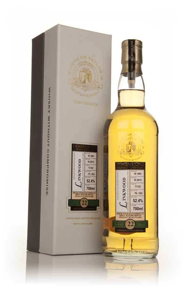 Linkwood 22 Year Old 1991 (cask 11152) - Dimensions (Duncan Taylor)
