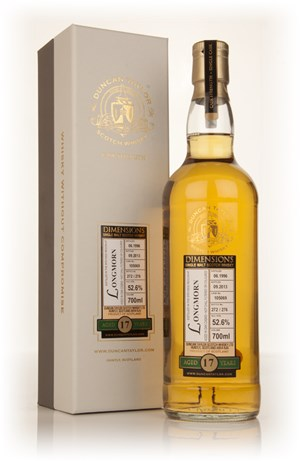 Longmorn 17 Year Old 1996 (cask 105069) - Dimensions (Duncan Taylor)