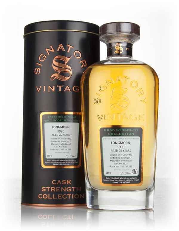 Longmorn 26 Year Old 1990 (cask 8625) - Cask Strength Collection (Signatory)
