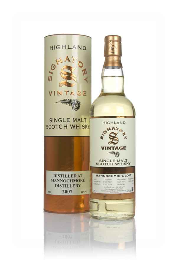 Mannochmore 10 Year Old 2007 (casks 6655 & 6656) - Signatory