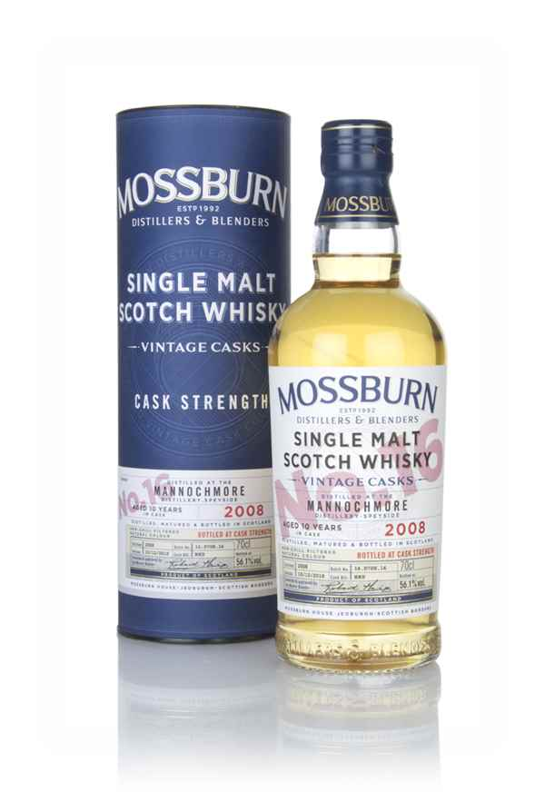 Mannochmore 10 Year Old 2008 - Cask Strength (Mossburn)