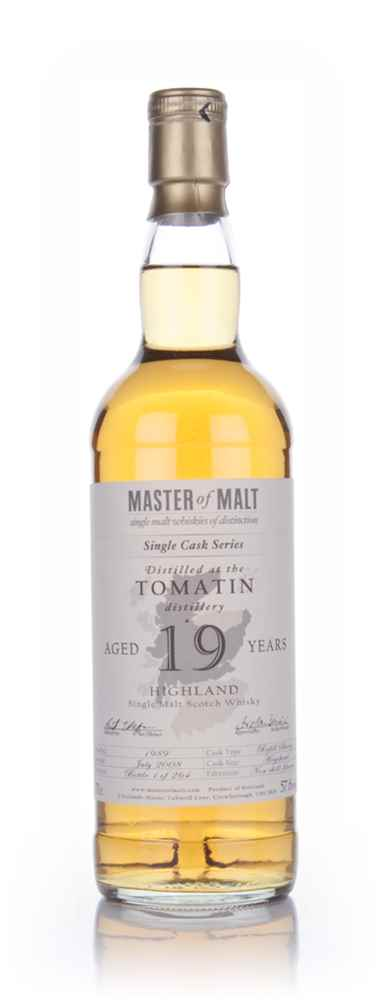 Tomatin 19 Year Old - Cask Strength Single Cask (Master of Malt)
