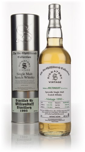 Miltonduff 18 Year Old 1995 (casks 4120 + 4121) - Un-Chillfiltered Collection (Signatory)