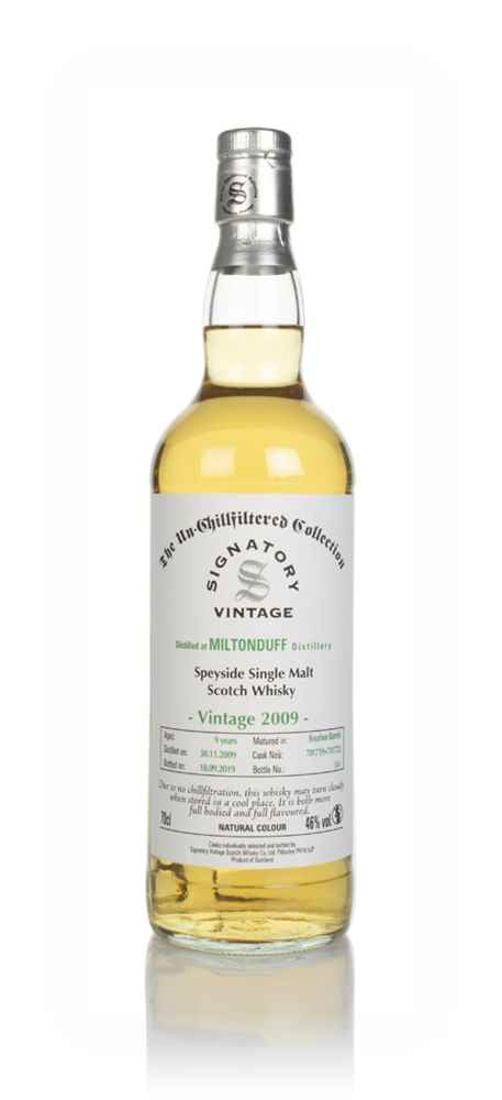 Miltonduff 9 Year Old 2009 (casks 701719 & 701723) - Un-Chillfiltered Collection (Signatory)