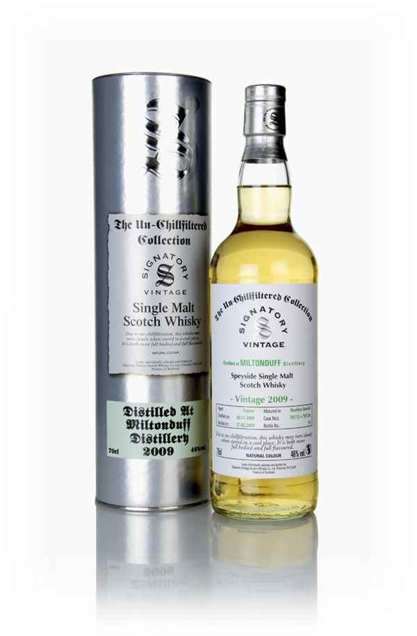 Miltonduff 9 Year Old 2009 (casks 701721 & 701724) - Un-Chillfiltered Collection (Signatory)