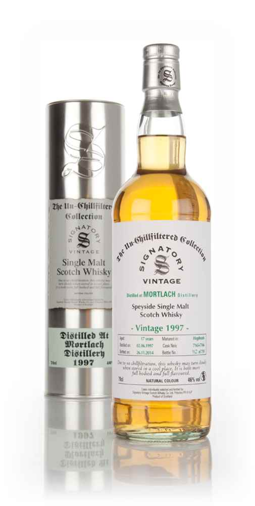 Mortlach 17 Year Old 1997 (casks 7165+7166) - Un-Chillfiltered (Signatory)