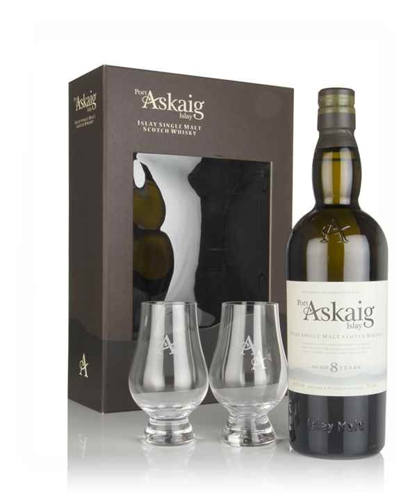 Port Askaig 8 Year Old Gift Pack with 2x Glasses