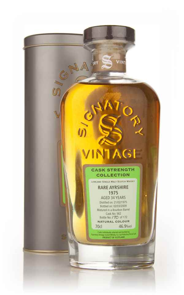 Rare Ayrshire 34 Year Old 1975 Cask 562 - Cask Strength Collection (Signatory)