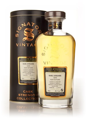 Rare Ayrshire 36 Year Old 1975 Cask 564 - Cask Strength Collection (Signatory)