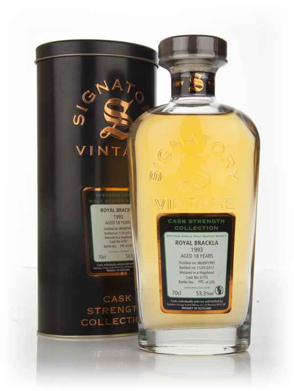 Royal Brackla 18 Year Old 1993 - Cask Strength Collection (Signatory)