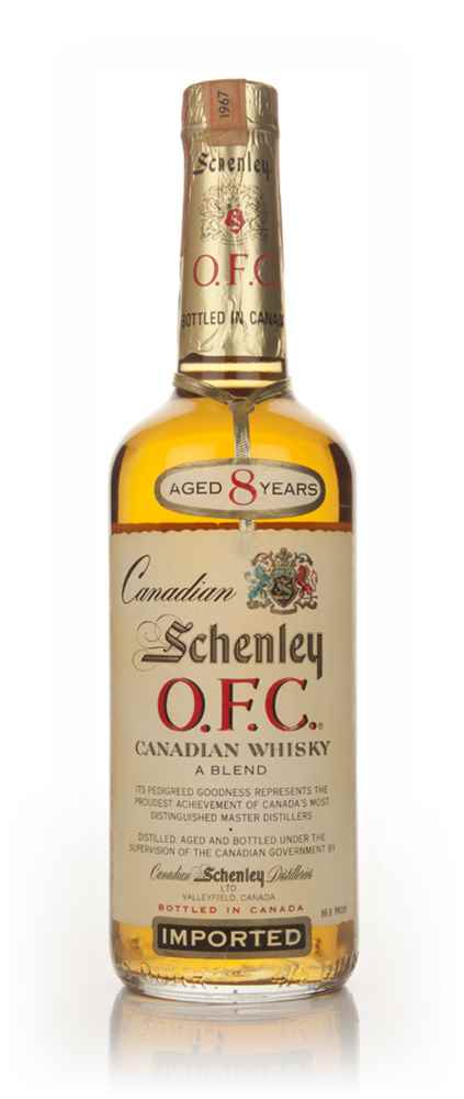 Schenley O.F.C 8 Year Old Canadian Whisky - 1967
