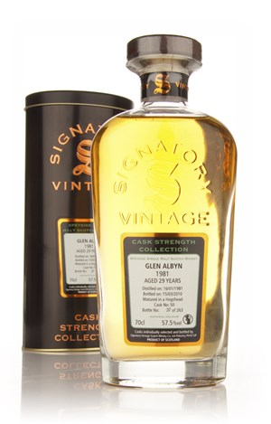 Glen Albyn 29 Year Old 1981 - Cask Strength Collection (Signatory)