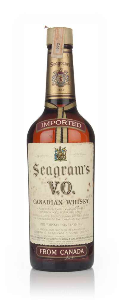 Seagram's V.O. 6 Year Old Canadian Whisky - 1972