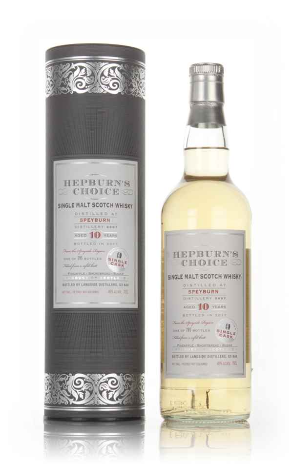 636bfd94baf Speyburn 10 Year Old 2007 - Hepburn s Choice (Langside) Whisky ...