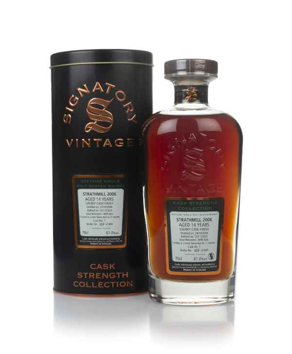 Strathmill 14 Year Old 2006 (cask 7) - Cask Strength Collection (Signatory)