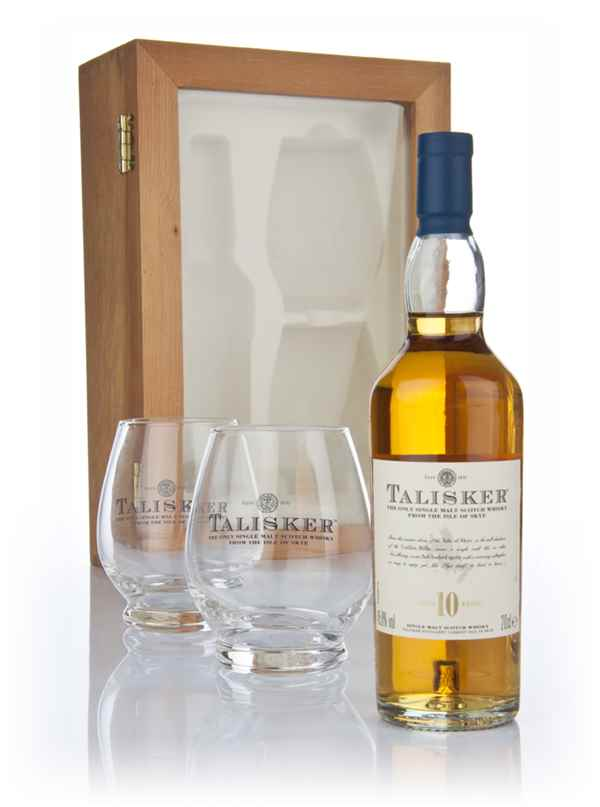 Talisker 10 Year Old with 2x Tasting Glasses