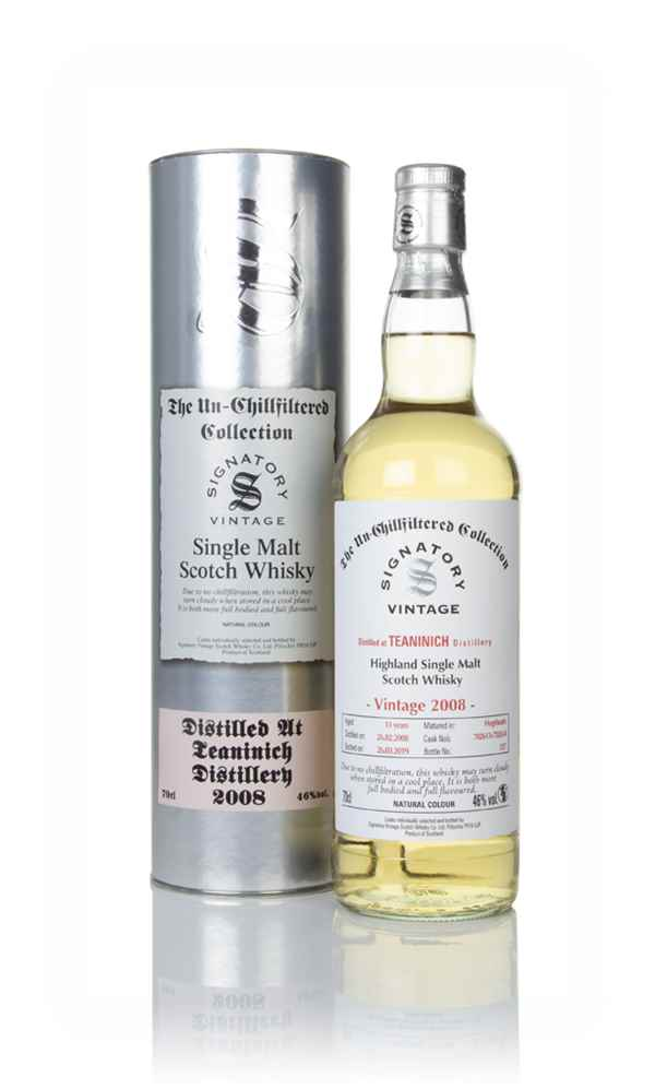 Teaninich 11 Year Old 2008 (casks 702613 & 702614) - Un-Chillfiltered Collection (Signatory)