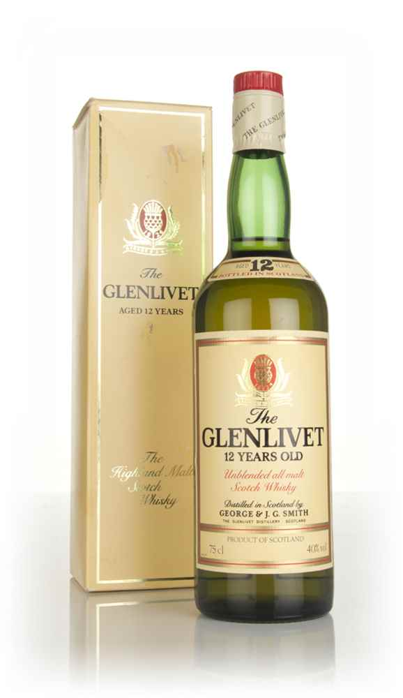 the glenlivet 12 year old 1980s boxed whisky master of malt