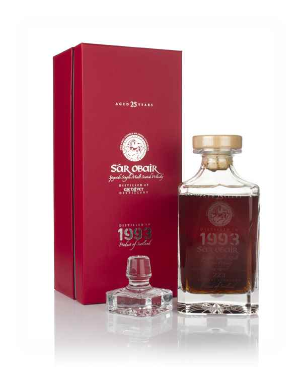 Glenlivet 25 Year Old 1993 - Sar Obair Decanter (Kingsbury)