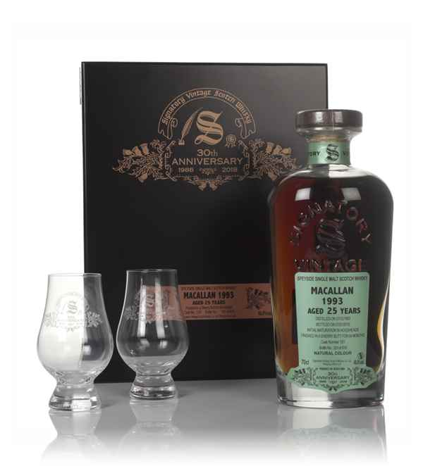 Macallan 25 Year Old 1993 (cask 13/1) - 30th Anniversary Gift Box (Signatory)