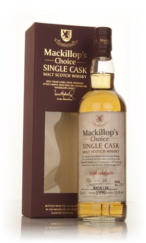 The Macallan 22 Year Old 1990 (cask 16050) - Mackillop's Choice