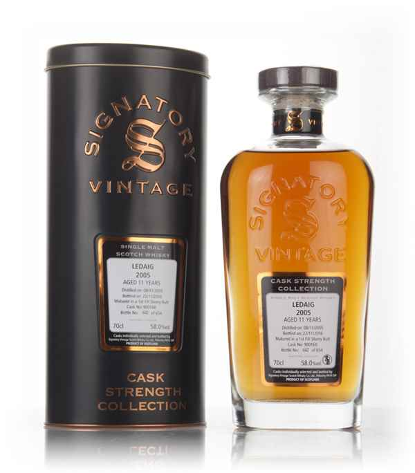 Ledaig 11 Year Old 2005 (cask 900160) - Cask Strength Collection (Signatory)