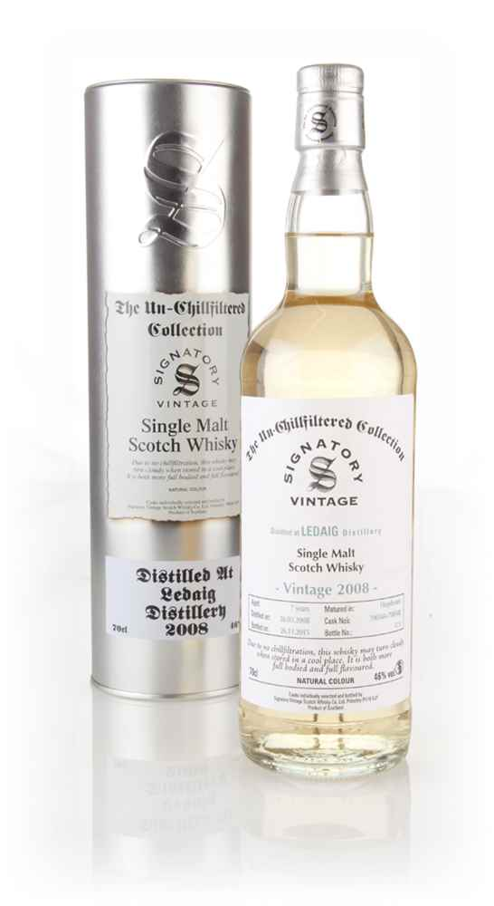 Ledaig 7 Year Old 2008 (casks 700544 & 700548) - Un-Chillfiltered (Signatory)