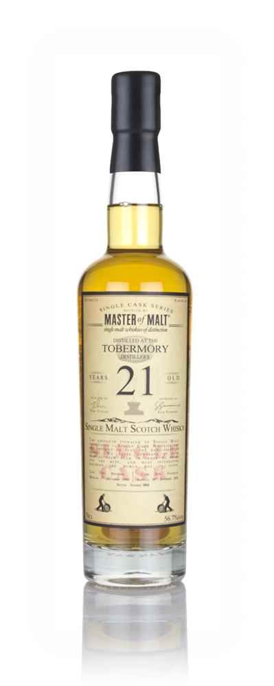 Tobermory 21 Year Old 1996 Single Cask (Master of Malt)