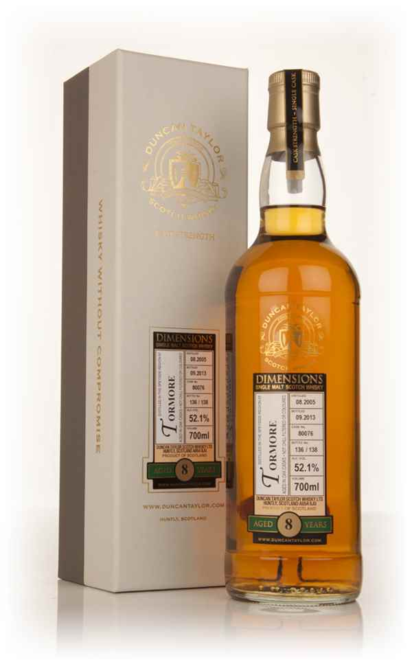 Tormore 8 Year Old 2005 (cask 80076) - Dimensions (Duncan Taylor)