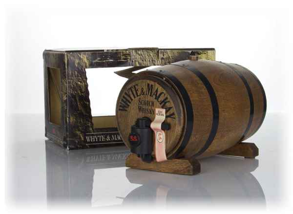 Whyte & Mackay Wooden Barrel Gift Pack - 1970s