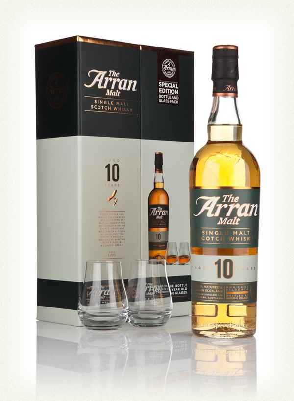 Arran 10 Year Old with 2 Glasses