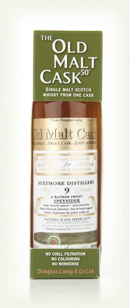 Aultmore 9 Year Old Cigar Malt - Old Malt Cask (Douglas Laing) 20cl