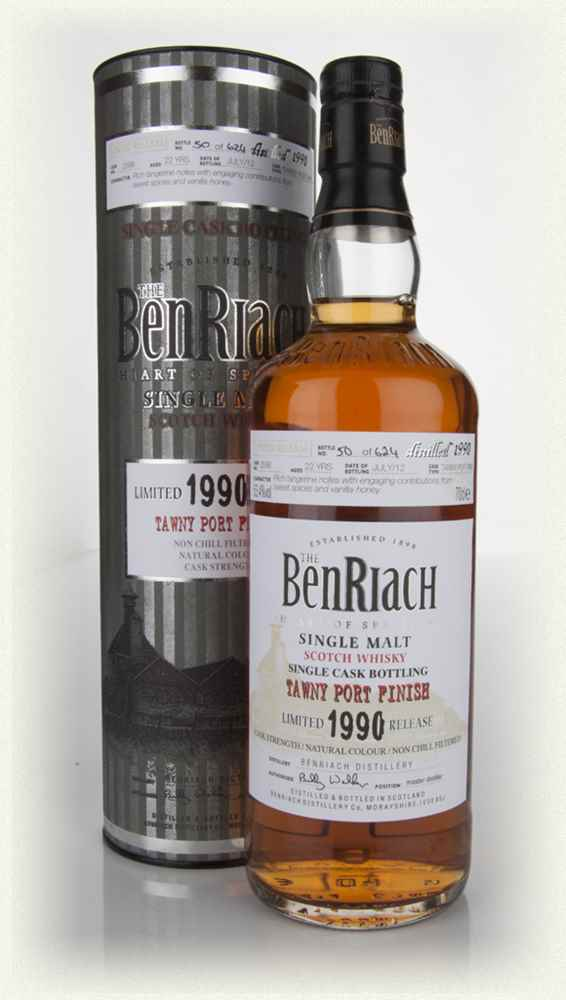 BenRiach 22 Year Old 1990 Tawny Port Pipe