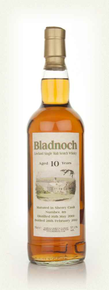 Bladnoch 10 Year Old - Sherry Matured Special Label  (57.1%)