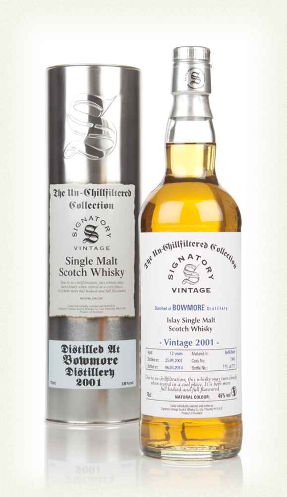 Bowmore 12 Year Old 2001 (cask 1365) - Un-Chillfiltered (Signatory)