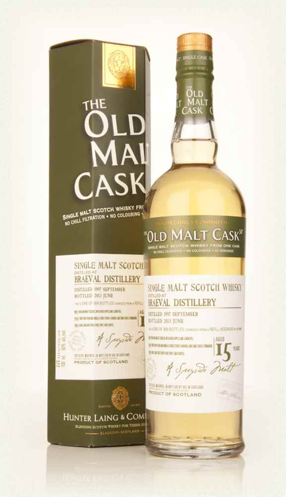 Braeval 15 Year Old 1997 (cask 9888) - Old Malt Cask (Hunter Laing)